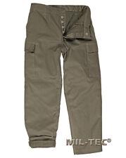 Pantaloni Militari tedeschi Mil-tec Moleskin Cargo tasconi Verde 58
