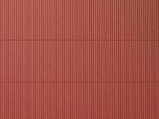 Auhagen kit 52230 NEW HO PLASTIC SHEET 200X100MM   (2) CORRUGATED IRON   RED