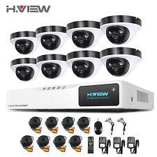 H.View Outdoor SecurityCameraSystem 8CH 1080N AHD CCTV DVR 2.0MP Cameras Set