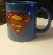 Large Superman Ceramic Mug - Blue with logo - DC Comics