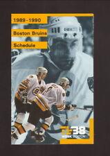Boston Bruins--Bourque--Neely--Wesley--1989-90 Pocket Schedule--WSBK/Budweiser