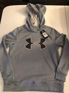 Nwt Womans Under Armour Synthetic Fleece Big Logo Hoodie/Sweatshirt