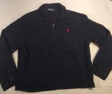 Vtg Polo Ralph Lauren Navy Blue Fall/spring Cotton Coat Jacket Size XL