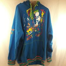 COOGI Men's 3XL Blue/Multicolor Zip-Up Hooded Jacket