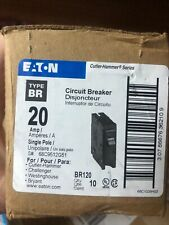 Eaton Cutler Hammer BR120 1 Pole Circuit Breaker, box of 10