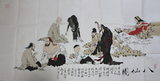 RARE LARGE Chinese 100%  Handed Painting By Fan Zeng 范增 WEDD22