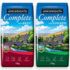 More details for arkwrights complete dry dog food 2 pack (30kg) - 1 x 15kg chicken 1 x 15kg beef