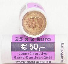 """2 EURO 2011 LUSSEMBURGO LUXEMBOURG """"JEAN"""" ROLLE 25PZ **FUORI TUTTO**"""