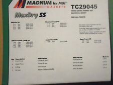 Engine Timing Cover Gasket Set-Maxdry SS  Magnum Gaskets tc29045