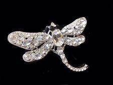 🇬🇧 Stunningly Beautiful Dragonfly AB Rhinestone Brooch Or Pendant.