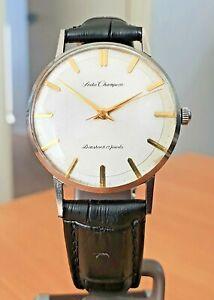 Vintage Sieko Champion Diashock white dial 17 jewel manual watch