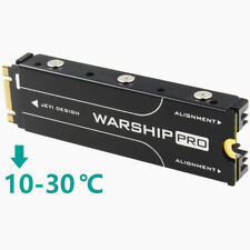 Aluminum Heatsink For PCIe NVMe M.2 SSD With Thermal Pads, 10°C- 25°C Cooling