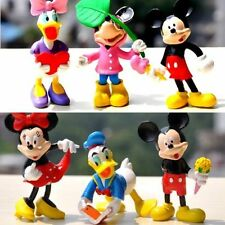 6pcs Mickey & Minnie Mouse Disney Character Figure Display Cake Topper Decor Toy