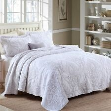 Leaves Patchwork Quilted Coverlet Bedspreads Set Queen King Size Throw Blanket
