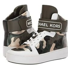 NWT Michael Kors Trent metallic camo high top 6
