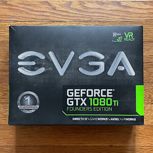 EVGA GeForce GTX 1080 Ti Founders Edition 11GB NVIDIA Video Card (11GP46390KR)