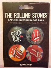 THE ROLLING STONES OFFICIAL BUTTON BADGE PACK BNIP Christmas Stocking filler