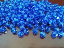 Lot 220 Pc Blue Gemstone Plastic Beads Diy Craft Hobby Jewelry Necklace Bracelet