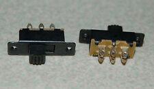 2pcs Double Rows 6 Pins 2 Position SPDT Panel Mount Mini Slide Switch