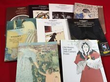 A lot of 9, old master,  19th+20th century prints catalogs. Sothebys