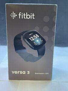 Fitbit Versa 3 Health & Fitness Smartwatch w/ GPS-  Black - Brand New Sealed