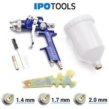 2-tlg HVLP Spritzpistole Set Lackierpistolen Spraypistole 0.8mm 1.4mm Düsen DE