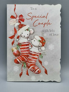 To A Special Couple Christmas Card, Xmas Card, Merry Christmas With Lots Of Love