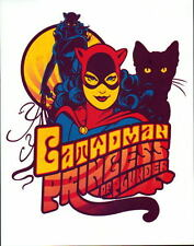 Psychedelic Style DC PRINT w CATWOMAN - PRINCESS Of PLUNDER Batman