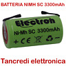 BATTERIA RICARICABILE NI-MH SC 1,2V 3500mAh 22x42mm 3300mAh A SALDARE