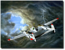 Lindbergs Secret by Domenic DeNardo P-38 Lightning Aviation Art Prints