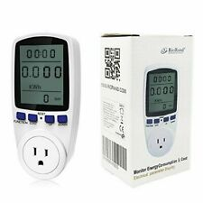 RioRand Plug Power Energy Watt Voltage Amps Meter with Electricity Usage Monitor