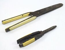 Set Of 2 Old Collectible Paper Cutter Scissors / Royal letter opener. G47-82 US