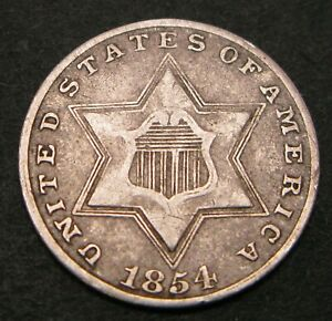 USA 3 Cents 1854 - Silver - 84