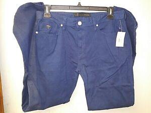 GUESS MENS PANTS 36x32 INK BLUE SUPER COMFY NWT $89