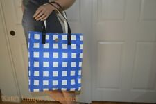 NWT Kate Spade ALISSA Royal Blue Cream Nylon Leather Shoulder Bag Tote Purse 198