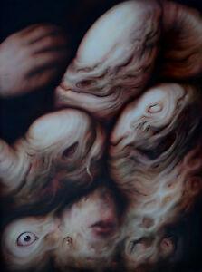 Oil Painting Romania ExBarbie Flesh Tones Aged Old Bodies Balogh Artwork