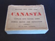 Vintage Boxed Canasta Card Game from De La Rue