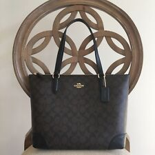New Coach F29958 F29208 Zip Top Tote In Signature Shoulder Bag Purse