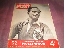 PICTURE POST MAGAZINE 28th Apr 1951 Cover FOOTBALLER OF THE YEAR harry johnston