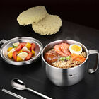 304 stainless steel instant noodle bowl, large soup bowl with lid
