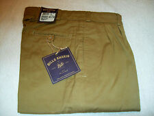 Bills Khakis Cotton Chamois Cloth Pleated Pants NWT 32 waist  Unhemmed $165 M2P