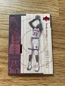 1998 Upper Deck Hartcourt Jordan Holding Court Red Patrick Ewing #J18 1265/2300