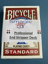 End Cut Stripper Deck, Red Bicycle Magic Card Trick Shaved Tapered smagic31