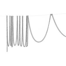 8SJ 10M Bright Silver Tone Links-Opened Curb Chains For Necklace DIY 2mm x1.5mm