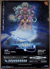 Phantasy STAR ONLINE DREAMCAST Raro Ver.2 51.5cm X 73cm japonés Cartel Promo #3