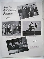 SWEETHEARTS Souvenir Program BOBBY CLARK / MARJORIE GATESON / VICTOR HERBERT `46
