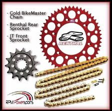 Renthal Red Sprocket and Gold Chain Kit Honda CRF450r CRF Crf450 02-20 13-48