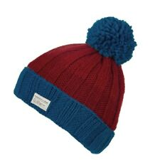 Kusan 100% Wool Moss Yarn Turn Up Bobble Beanie Hat Choice of Colours (PK1525)