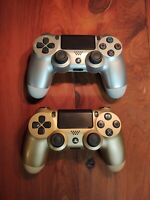 Lot Of 2 Official OEM Sony PlayStation 4 DualShock Controllers Broken Sticks