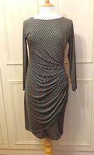 Onjenu miniprint jersey wrap/drape dress - 12 - New